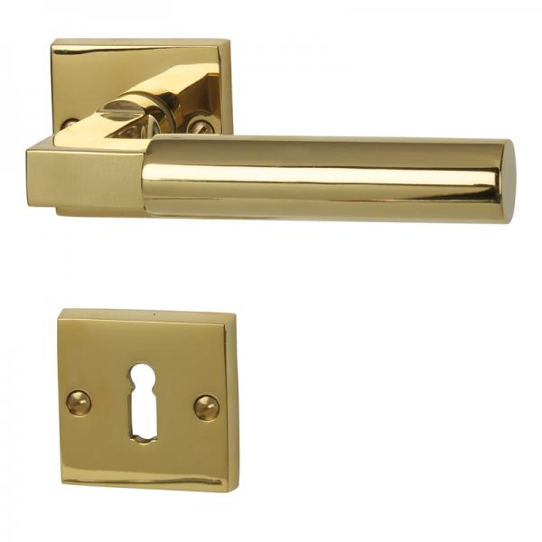 Alaska Square - R Robusta Gold - Türdrücker / Rosettengarnitur - Südmetall GmbH