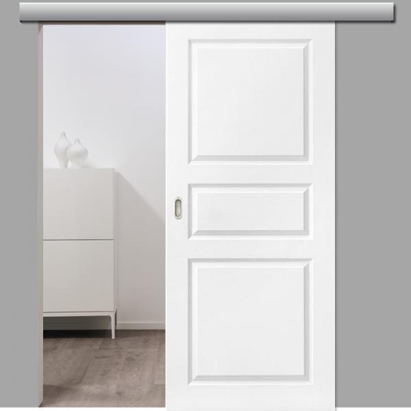 Elegance 03 Schiebetür inkl. Softclose & Türdämpfer Landhaustür RAL 9010