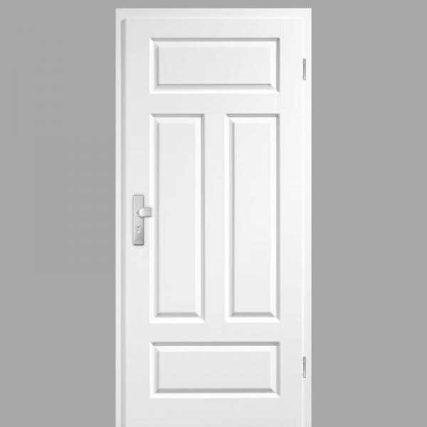 Elegance 04-Q Wohnungstüren / Schallschutztüren mit Zarge CPL RAL 9010