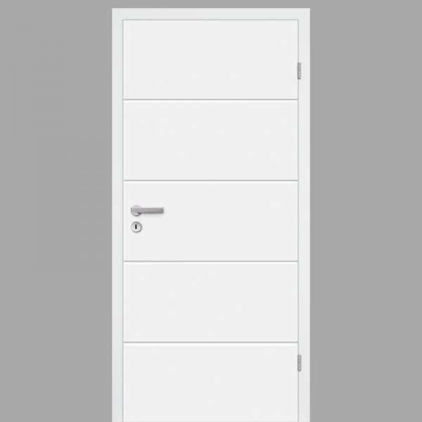 Mala 05 Zimmertür / Innentür RAL 9010 mit Zarge CPL Weißlack - Desgintür