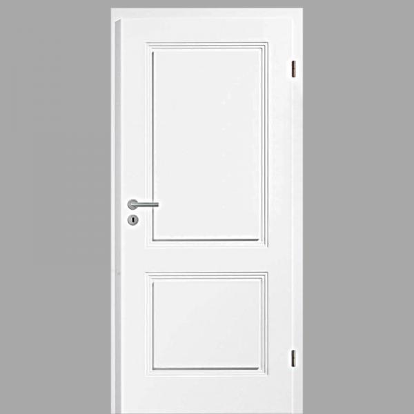 Sensa 02 Landhaustür / Stiltür mit Zarge RAL 9010 CPL Weißlack