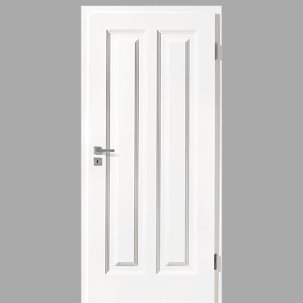 Finesse 22 Landhaustür / Stiltür mit Zarge RAL 9016 CPL Weißlack