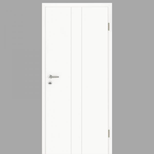 Gap 07 Zimmertür / Innentür RAL 9016 mit Zarge CPL Weißlack - Lebolit