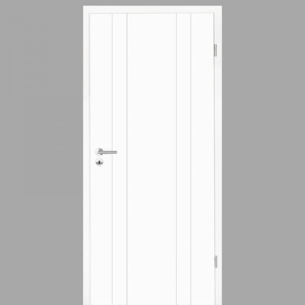 Gap 10 Zimmertür / Innentür RAL 9016 mit Zarge CPL Weißlack - Lebolit