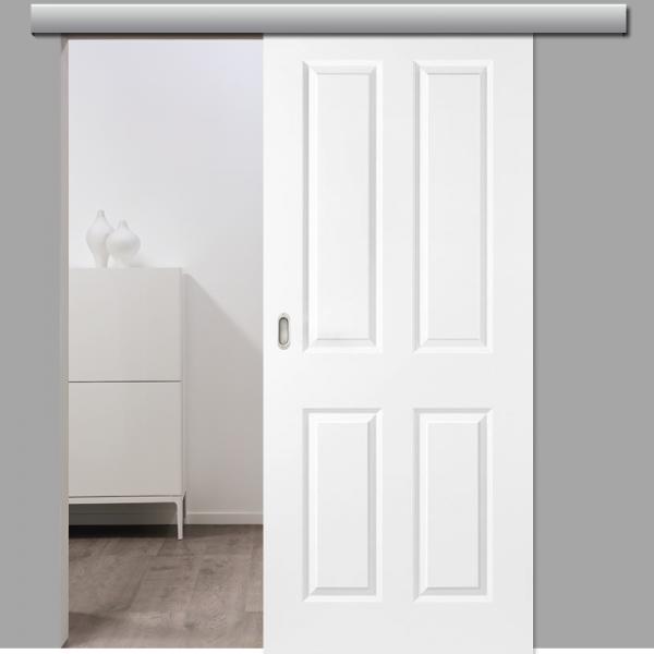 Elegance 04 Schiebetür inkl. Softclose & Türdämpfer Landhaustür RAL 9010