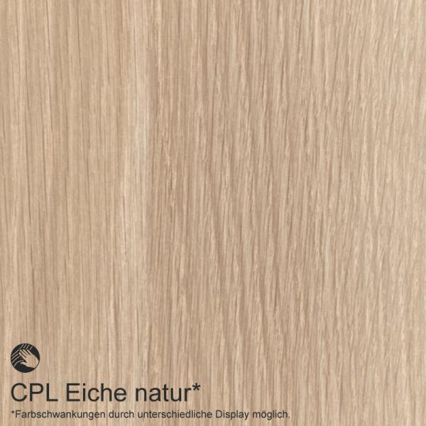 Eiche Natur Mustertafel für Zimmertüren & Türzargen CPL Maserung  - tuerenmarkt24