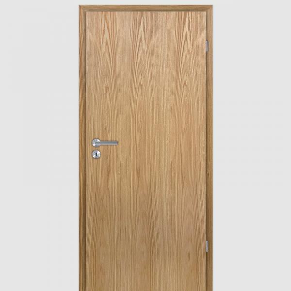 Bergeiche Echtholzfurnierte Innentür / Zimmertür Furnier mit Zarge
