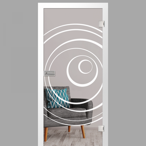 lira Motiv matt - Ganzglastüren / Glastüren mit Zarge Komplettset - Erkelenz