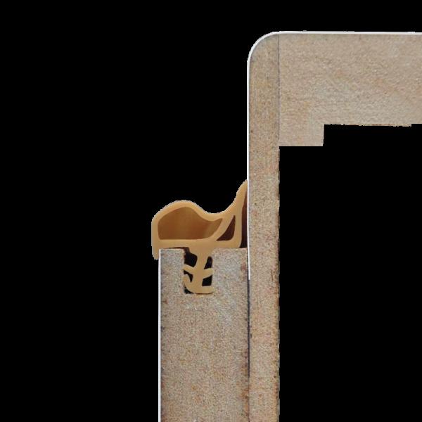 Beige - Dichtgummi für Türen / Türzargen - Meterware 5,50 m