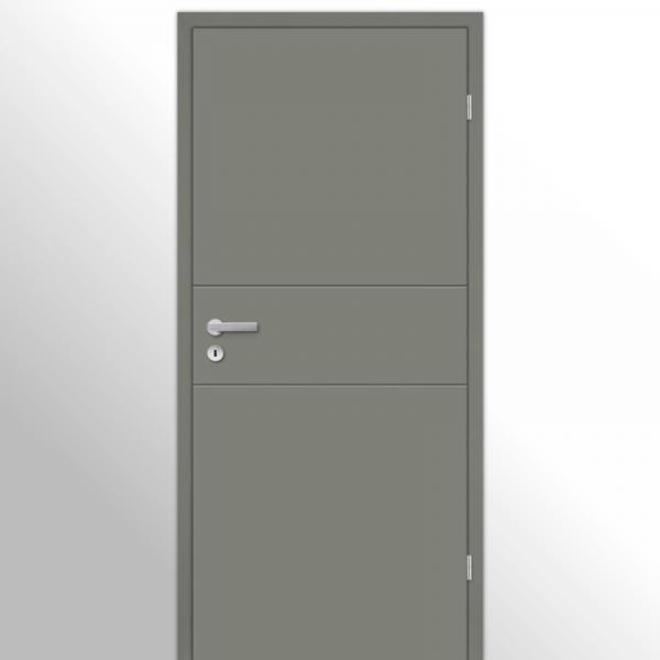 Mala 11 Zimmertür / Innentür mit Zarge RAL 7073 Lavagrau - Designtür