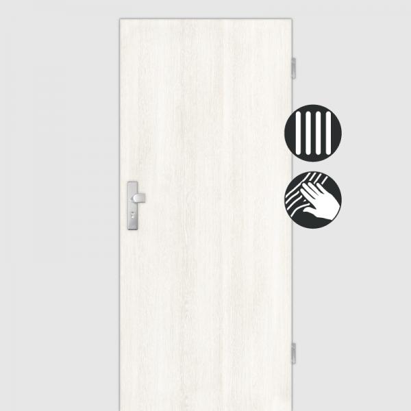 Lärche Weiß Wohnungstüren / Schallschutztüren CPL Maserung Aufrecht