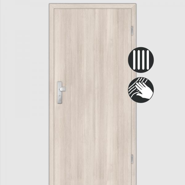 Lärche Crema Wohnungstüren / Schallschutztüren mit Zarge CPL Maserung Aufrecht