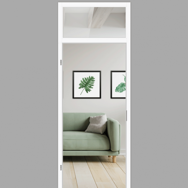 Windfang mit Oberlicht, für links gehangene Zimmertür / Typ 9