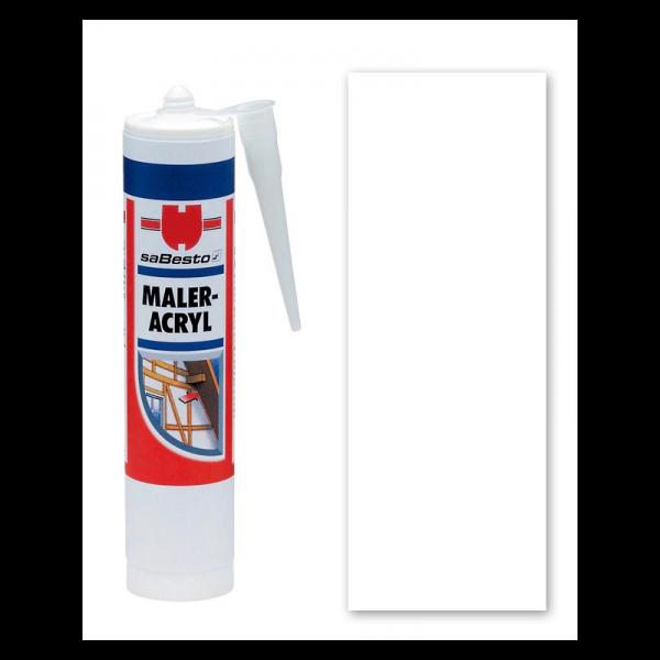 Weiß Acryl - Dichtstoff / Maleracryl 310 ml