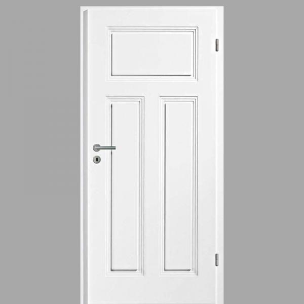 Sensa 03-Q Landhaustür / Stiltür mit Zarge RAL 9010 CPL Weißlack
