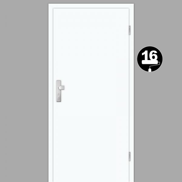 Weißlack 16 Wohnungstüren / Schallschutztüren mit Zarge CPL RAL 9016