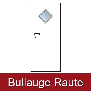Lichtausschnitt für Zimmertüren Bullauge raute