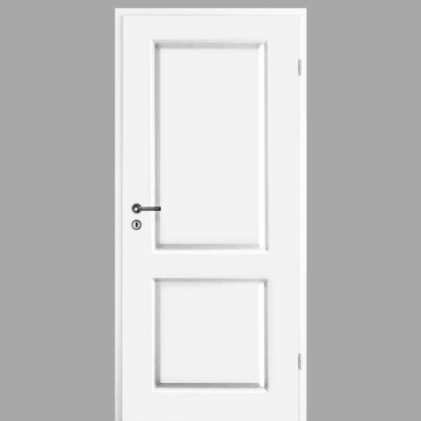 Elegance 02 Landhaustür / Stiltür mit Zarge RAL 9003 CPL Weißlack