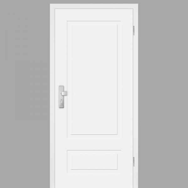 Cala 02 - Q Wohnungstüren / Schallschutztüren mit Zarge CPL RAL 9010