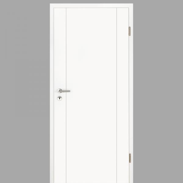 Gap 04 Zimmertür / Innentür RAL 9016 mit Zarge CPL Weißlack - Lebolit