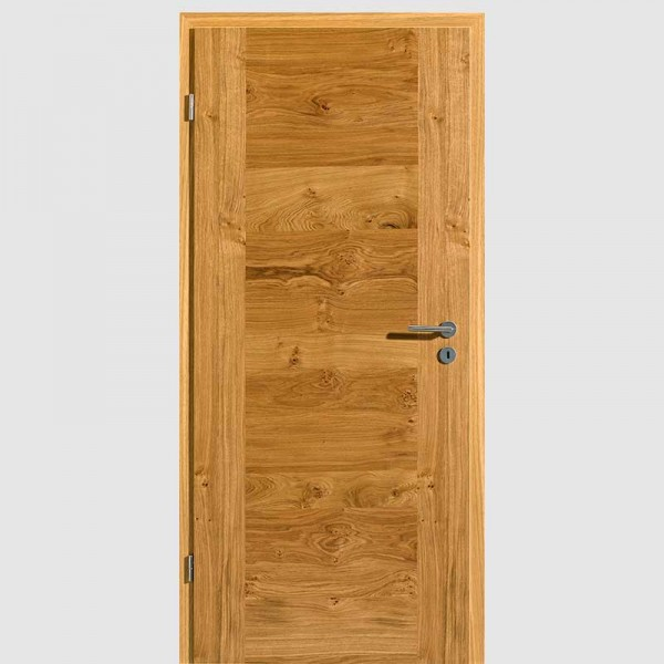 Asteiche Quirin 1 Echtholzfurnierte Innentür / Zimmertür Furnier mit Zarge - Lebo