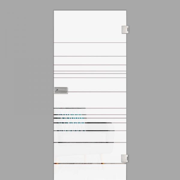 quer Motiv klar - Ganzglastür / Glastür - Erkelenz