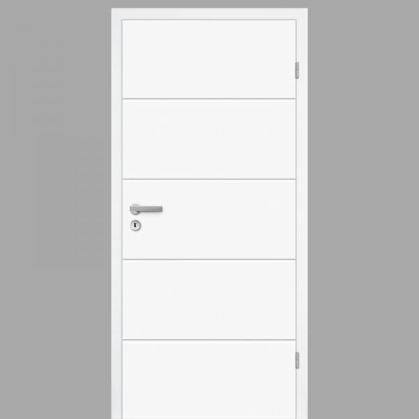 Mala 10 Zimmertür / Innentür RAL 9003 mit Zarge CPL Weißlack