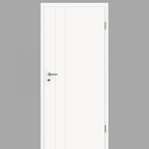 Gap 06 Zimmertür / Innentür RAL 9016 mit Zarge CPL Weißlack - Lebolit