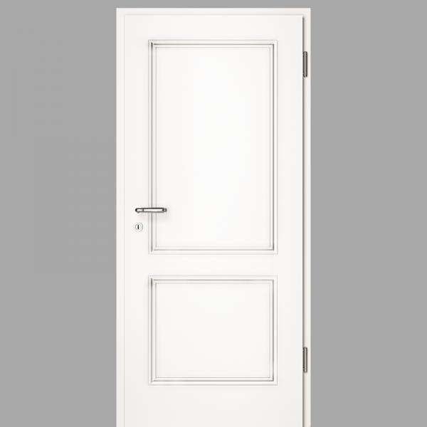 Arto 20 Landhaustür / Stiltür mit Zarge RAL 9016 CPL Weißlack - Lebolit
