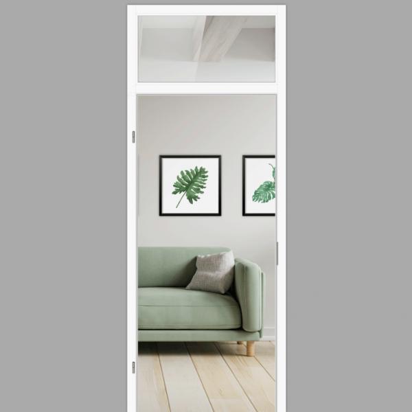 Windfangelement mit Oberlicht für Zimmertüren DIN links - Blockrahmen  / Typ 09