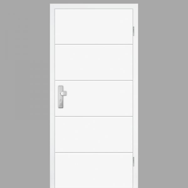 Mala 10 Wohnungstüren / Schallschutztüren mit Zarge CPL RAL 9003