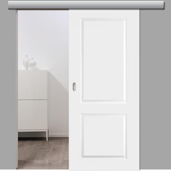 Elegance 02 Schiebetür inkl. Softclose & Türdämpfer Landhaustür RAL 9010