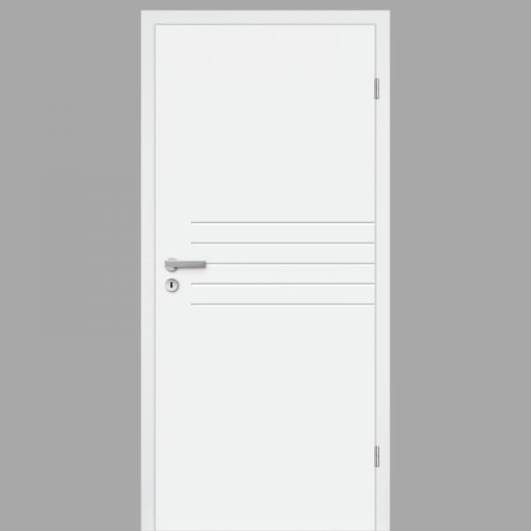 Mala 06 Zimmertür / Innentür RAL 9010 mit Zarge CPL Weißlack