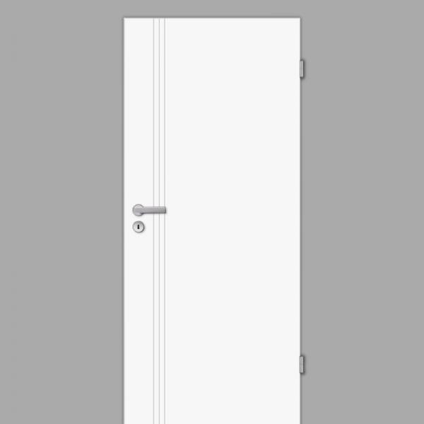 Mala 16 Zimmertür / Innentür RAL 9003 Weißlack - Designtür