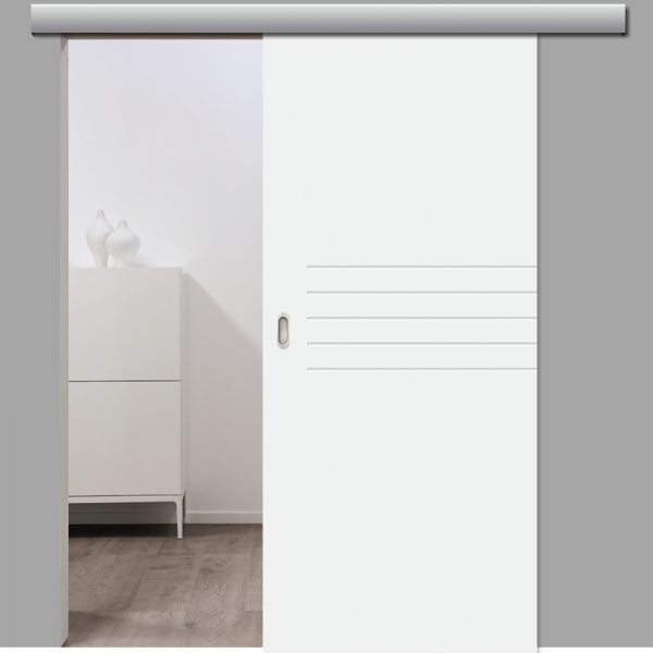 Mala 06 Schiebetür inkl. Softclose & Türdämpfer RAL 9010 - Designtür
