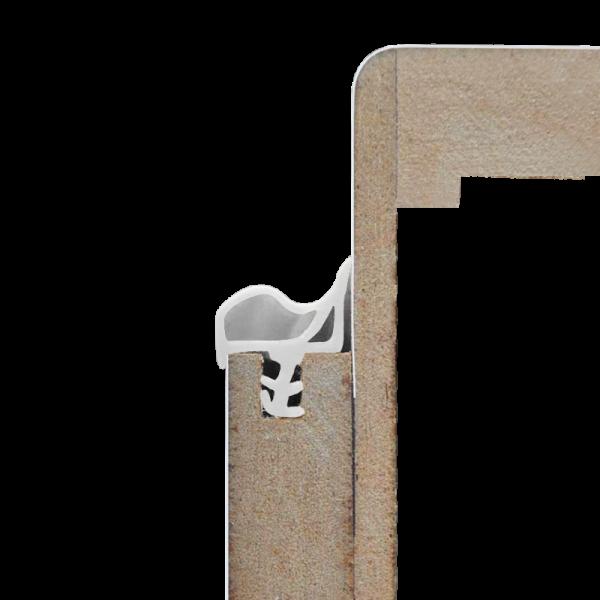 Weiß - Dichtgummi für Türen / Türzargen - Meterware