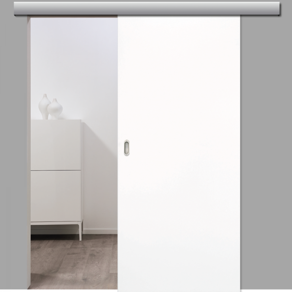 Weißlack 16 Schiebetür inkl. Softclose & Türdämpfer CPL RAL 9016