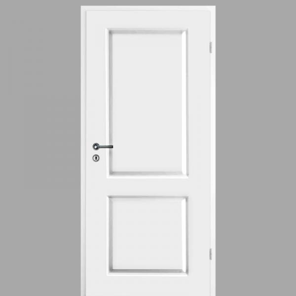 Elegance 02 Landhaustür / Stiltür mit Zarge RAL 9010 CPL Weißlack