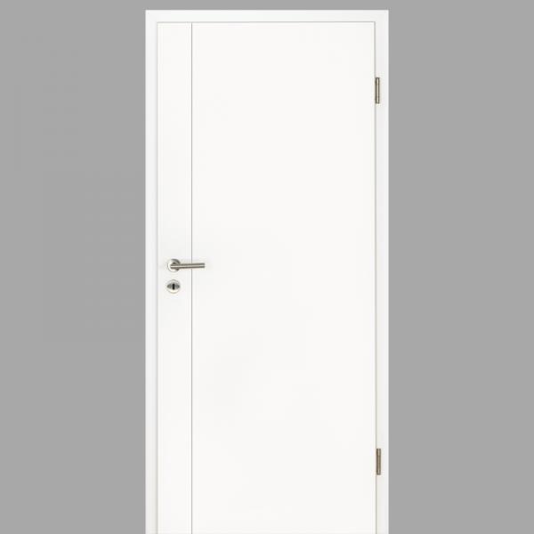 Gap 05 Zimmertür / Innentür RAL 9016 mit Zarge CPL Weißlack - Lebolit