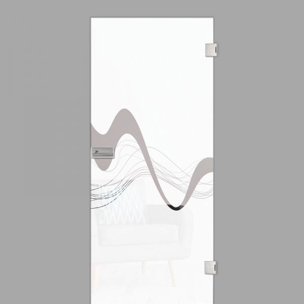 sinus 2 Motiv klar - Ganzglastür / Glastür - Erkelenz