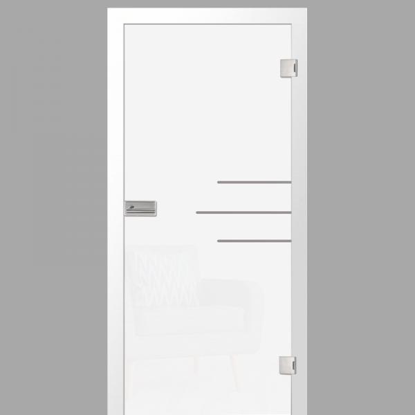 bahia Motiv klar - Ganzglastüren / Glastüren mit Zarge Komplettset - Erkelenz