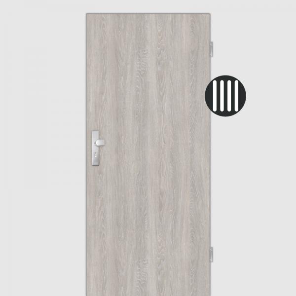Eiche grau gekälkt Wohnungstüren / Schallschutztüren CPL Maserung Aufrecht
