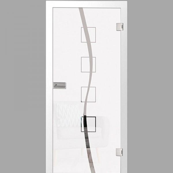 catania Motiv matt - Ganzglastüren / Glastüren mit Zarge Komplettset - Erkelenz