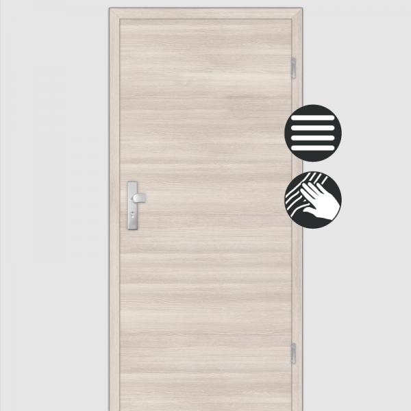 Lärche Crema Wohnungstüren / Schallschutztüren mit Zarge CPL Maserung Quer