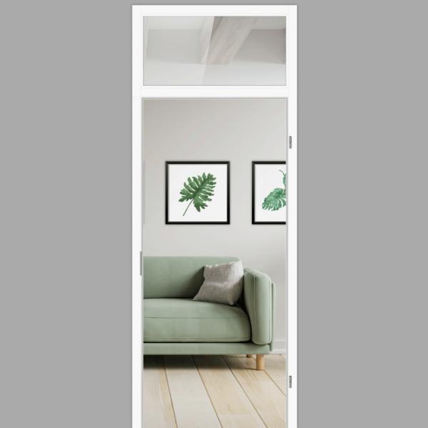 Windfangelement mit Oberlicht für Zimmertüren DIN rechts - Blockrahmen  / Typ 10