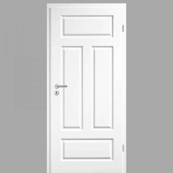 Elegance 04 - Q Landhaustür / Stiltür mit Zarge RAL 9003 CPL Weißlack
