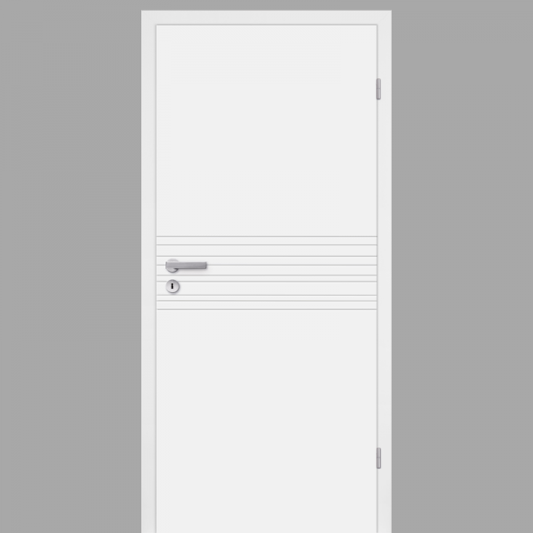 Mala 18 Zimmertür / Innentür RAL 9010 mit Zarge CPL Weißlack