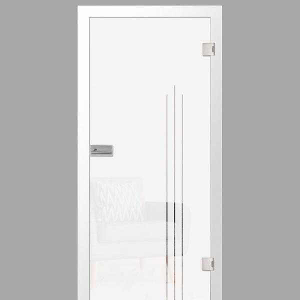 vertigo Motiv klar - Ganzglastüren / Glastüren mit Zarge Komplettset - Erkelenz