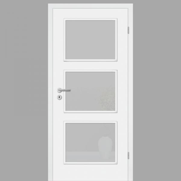 Cala 03 Landhaustür / Stiltür  RAL 9010 CPL Weißlack mit Verglasung