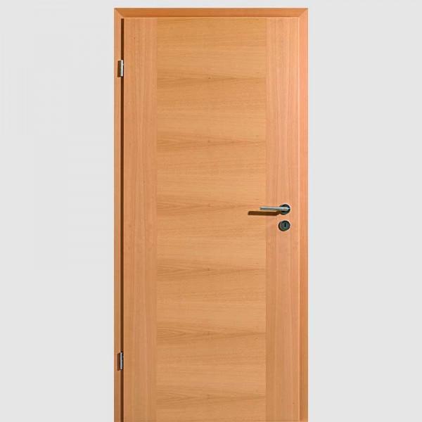 Buche Quirin 01 Echtholzfurnierte Innentür / Zimmertür Furnier mit Zarge - Lebo